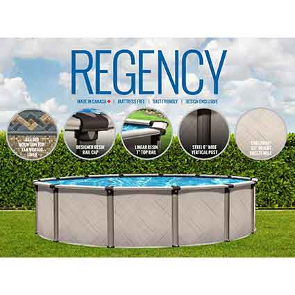 Regency Above Ground Pool Kit Aqua Bay