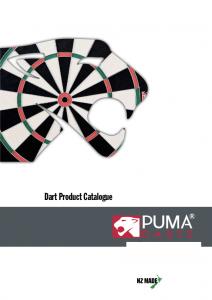 Puma Darts Catalogue